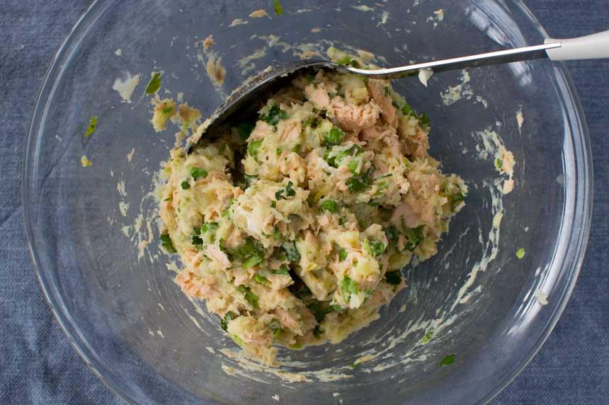 Fishcake mixture!