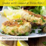 A plate of crispy salmon fishcakes