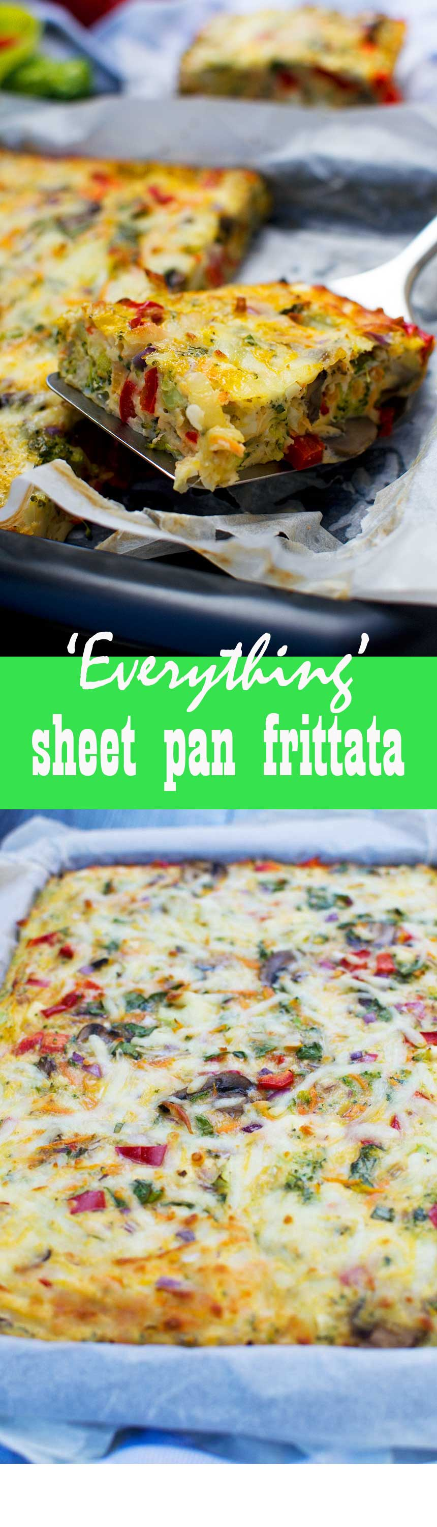'Everything' sheet pan fritatta