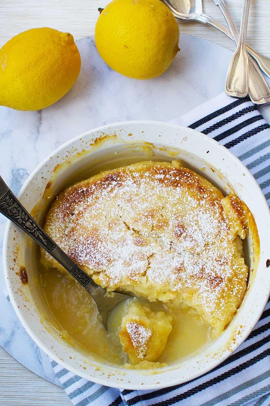 Sugar Free Lemon Pudding Cake Recipe