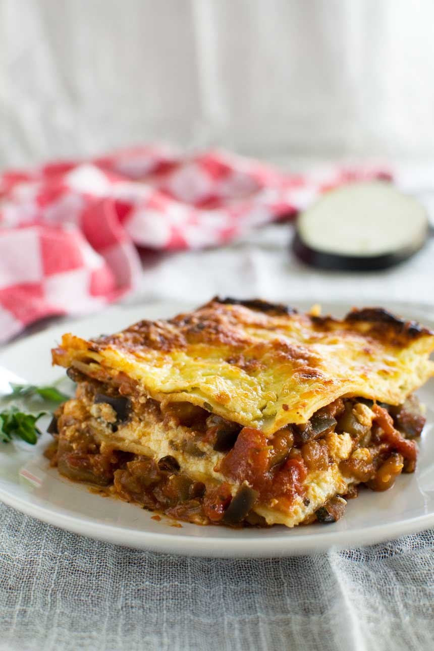 2-in-1 meal: lasagne alla norma (simple eggplant lasagne) from Scrummy Lane!
