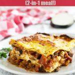 A piece of simple eggplant lasagna