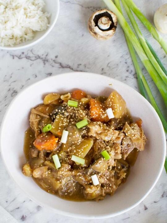 Slow cooker Korean chicken