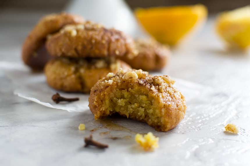 Greek Christmas Honey Cookies Melomakarona