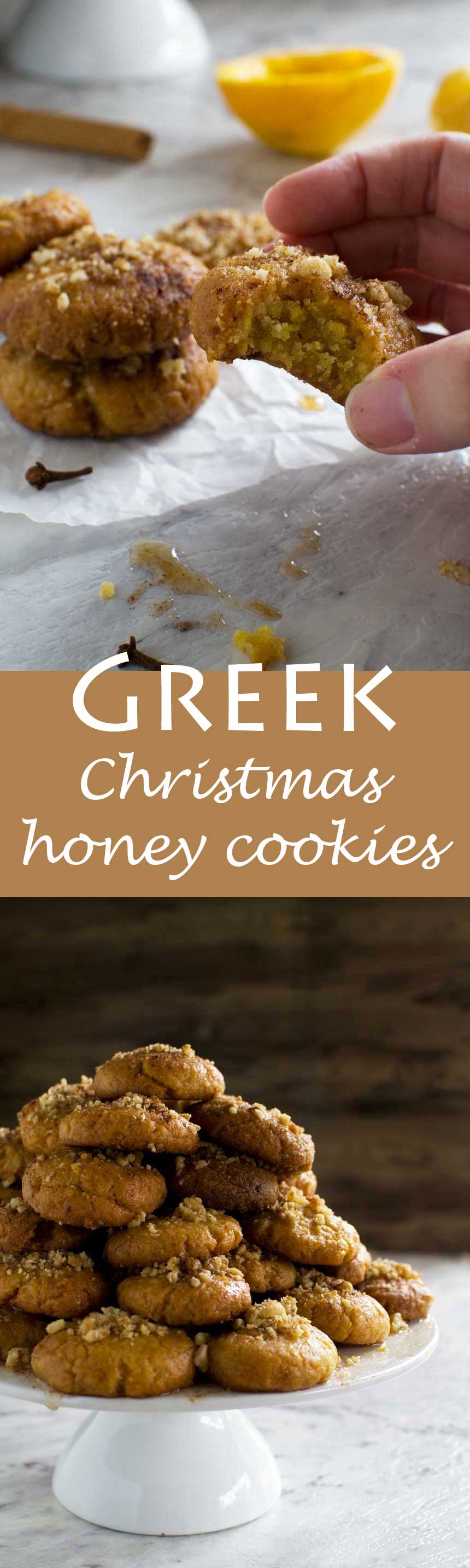 Greek Christmas honey cookies - seriously addictive!