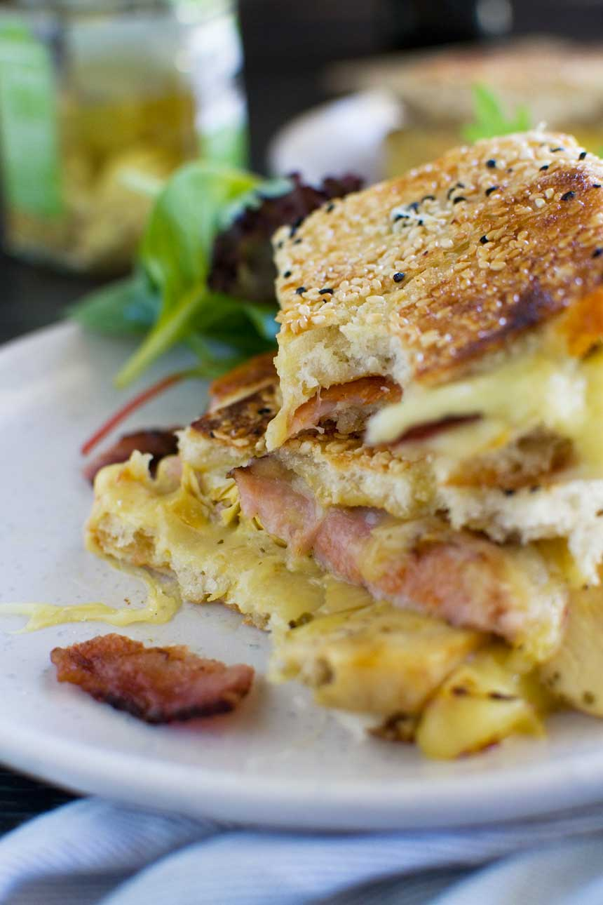 Artichoke and bacon grilled cheese