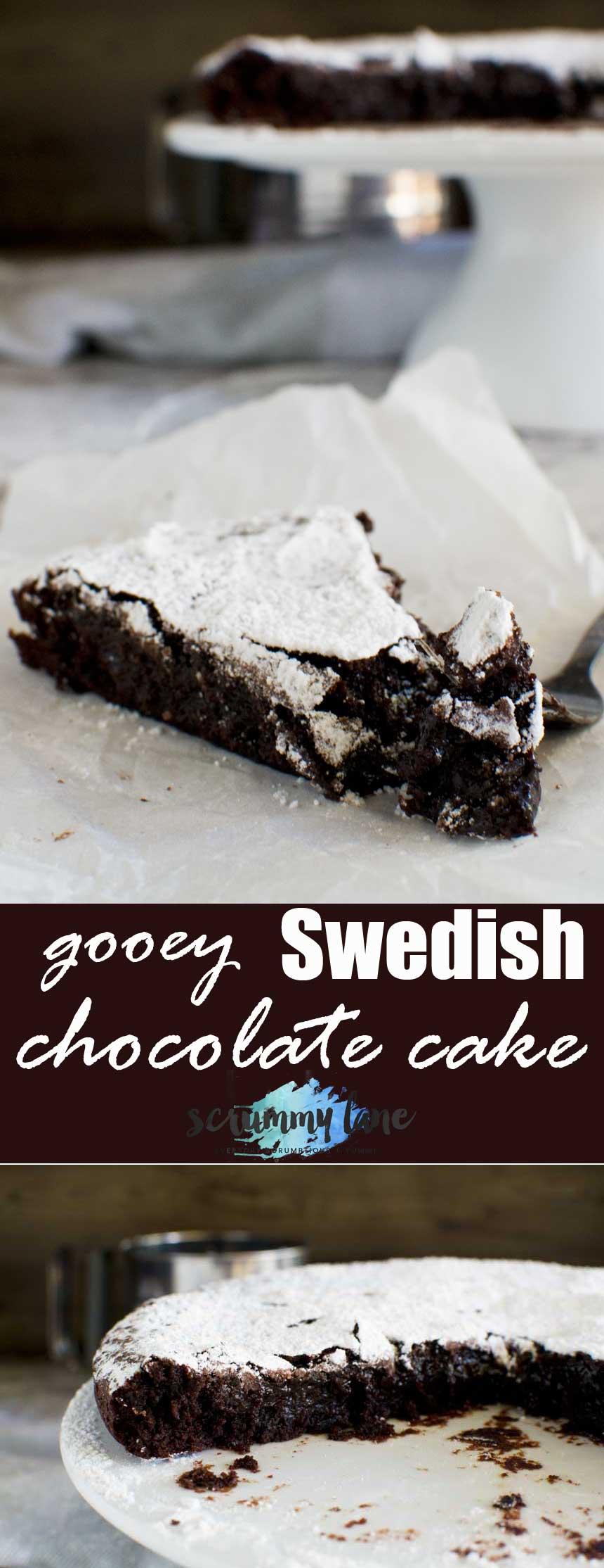 6 Ingredient Gooey Swedish Chocolate Cake Kladdkaka