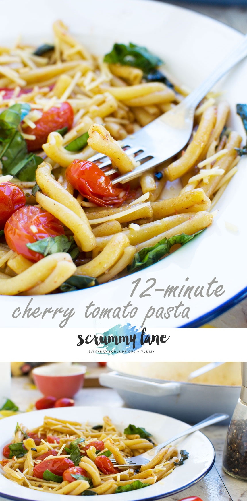 Need a dinner idea in a hurry? Make this 12-minute cherry tomato pasta!