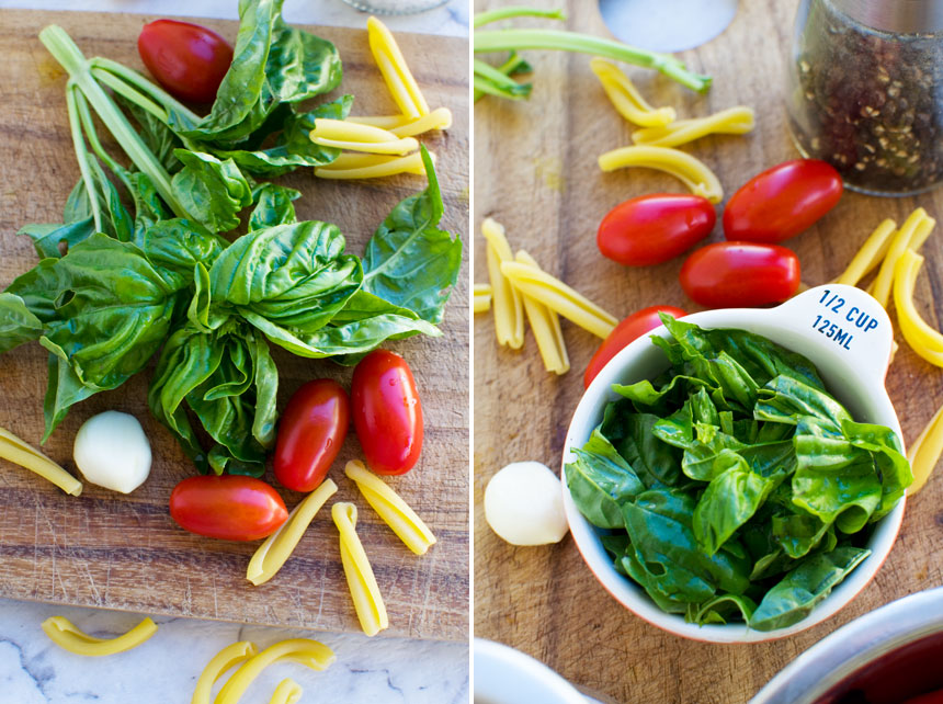 ingredients for cherry tomato pasta