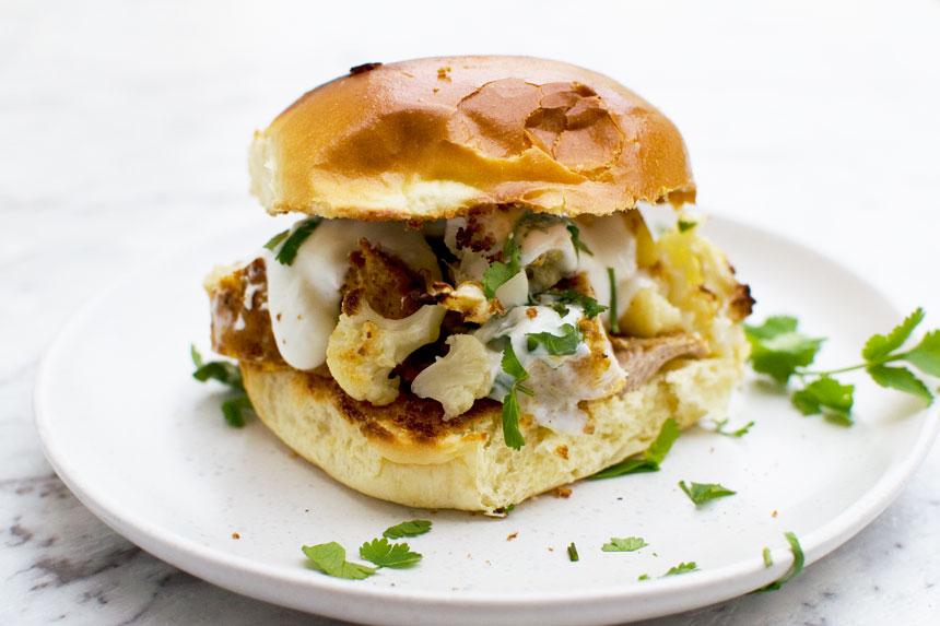 Chicken tikka burger