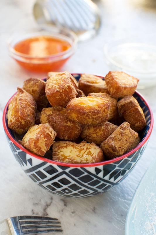 Life-changing fried halloumi bites