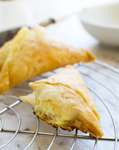 Tiropita or mini Greek cheese pies