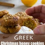 Greek Christmas honey cookies