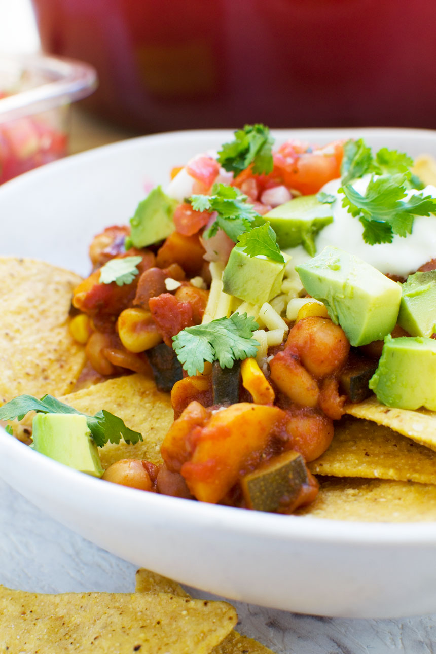 5 bean loaded nachos