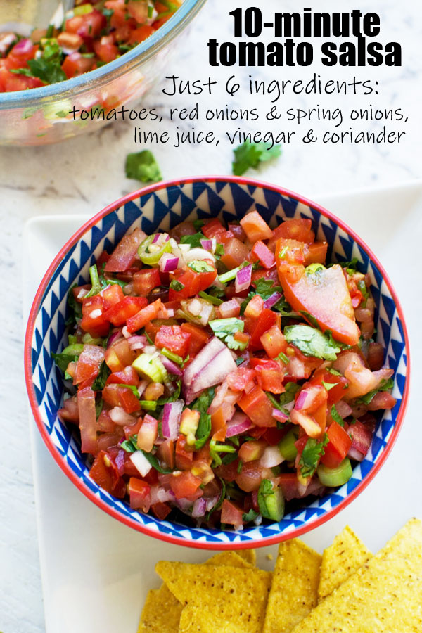 10 Minute Fresh Tomato Salsa Scrummy Lane