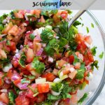 10 minute tomato salsa