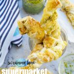 Supermarket copycat pesto and cheese twists