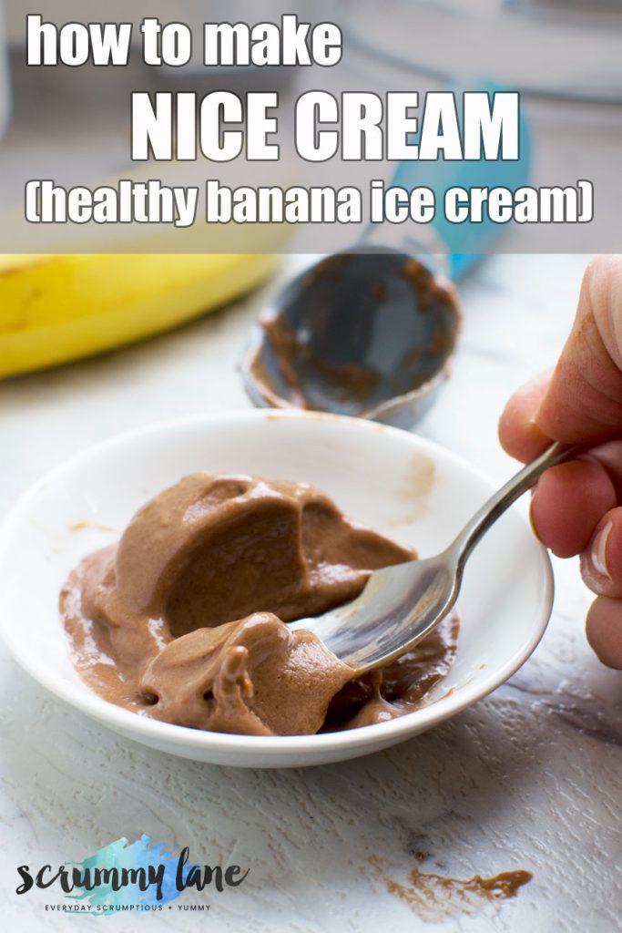5-minute chocolate banana ice cream (nice cream)