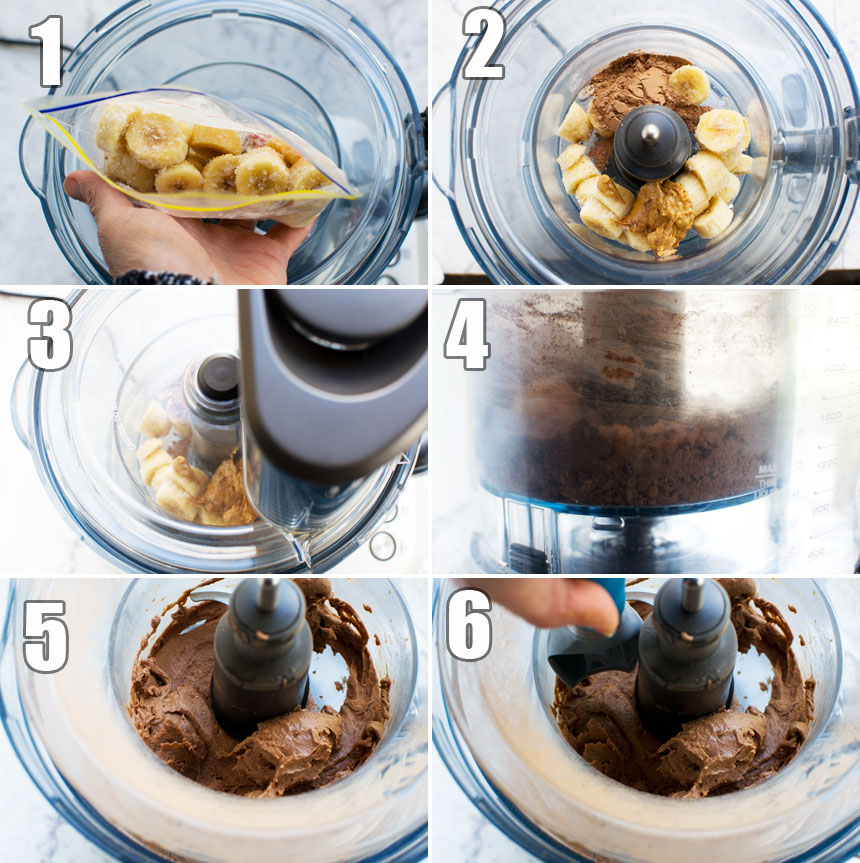 How to make 5-minute chocolate banana ice cream