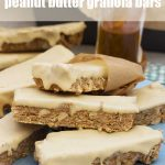 Sweet and salty peanut butter granola bars