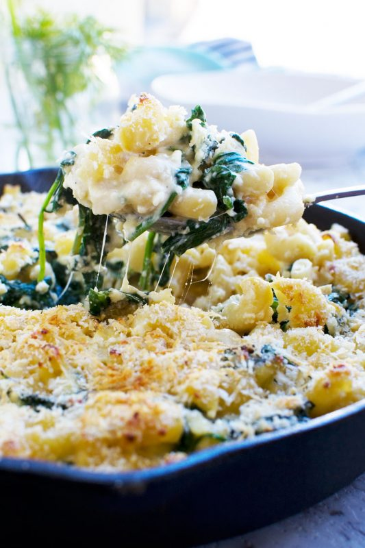 30-minute Greek mac and cheese bake