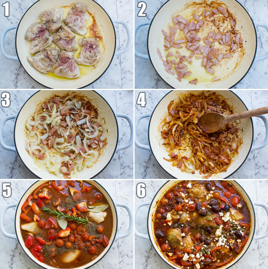 How to make a Mediterranean stove top chicken casserole