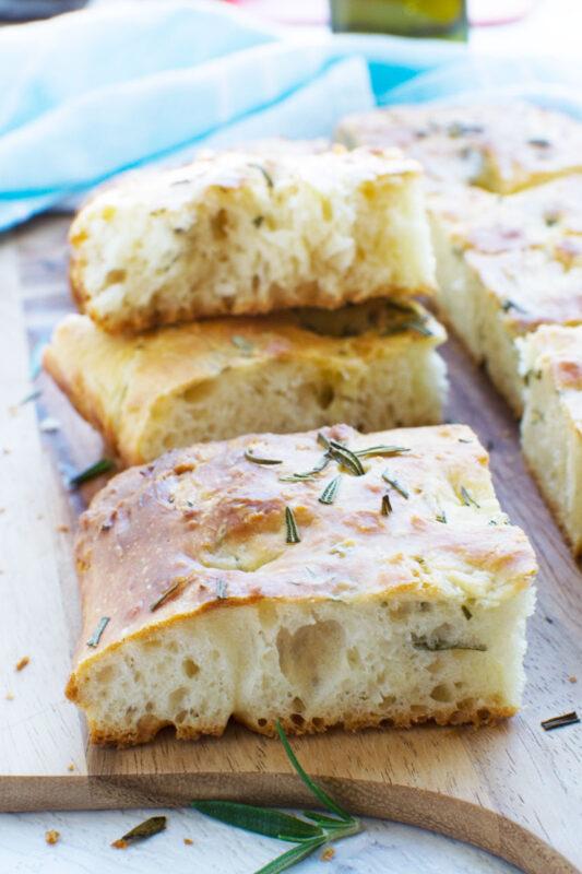 Shockingly easy Italian focaccia bread (no-knead!)